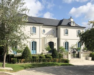 French Inspired Exterior of Home painted by Paper Moon Painting, house painters, Alamo Heights