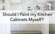 Should I paint my kitchen cabinets mself, blog title