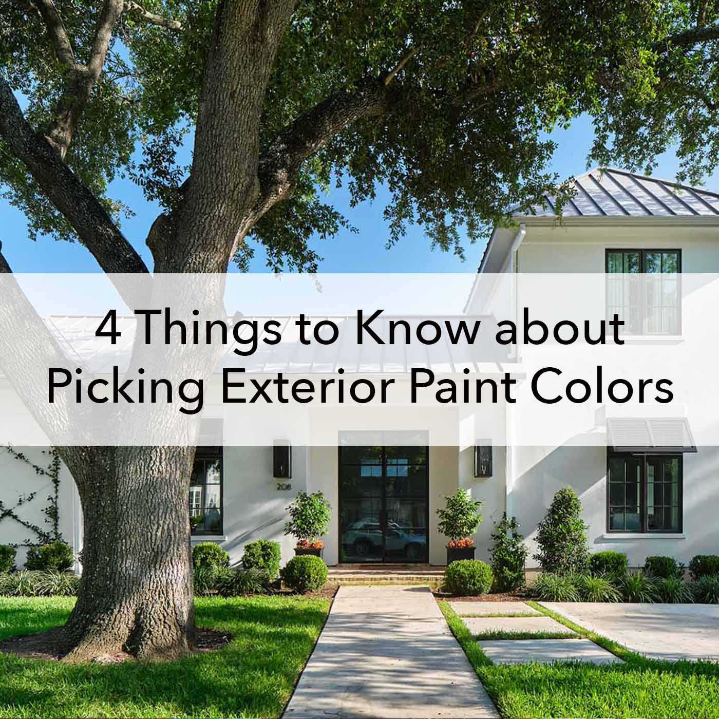 4 things to know about picking exterior paint colors, blog