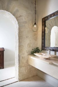 hill-country-ranch-house-paper-moon-painting-san-antonio-tx-home-painter-guest-bath-stone-and-plaster-walls